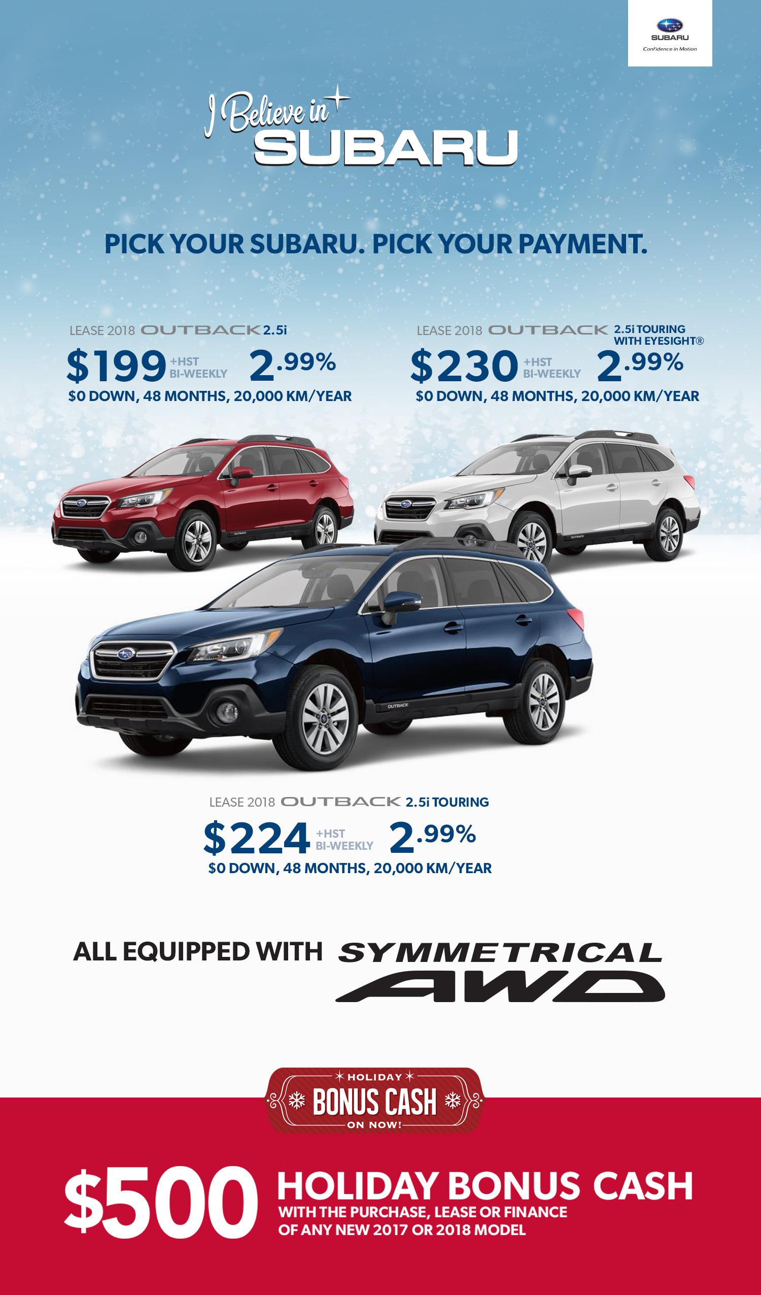 Subaru Outback Holiday Bonus Newmarket