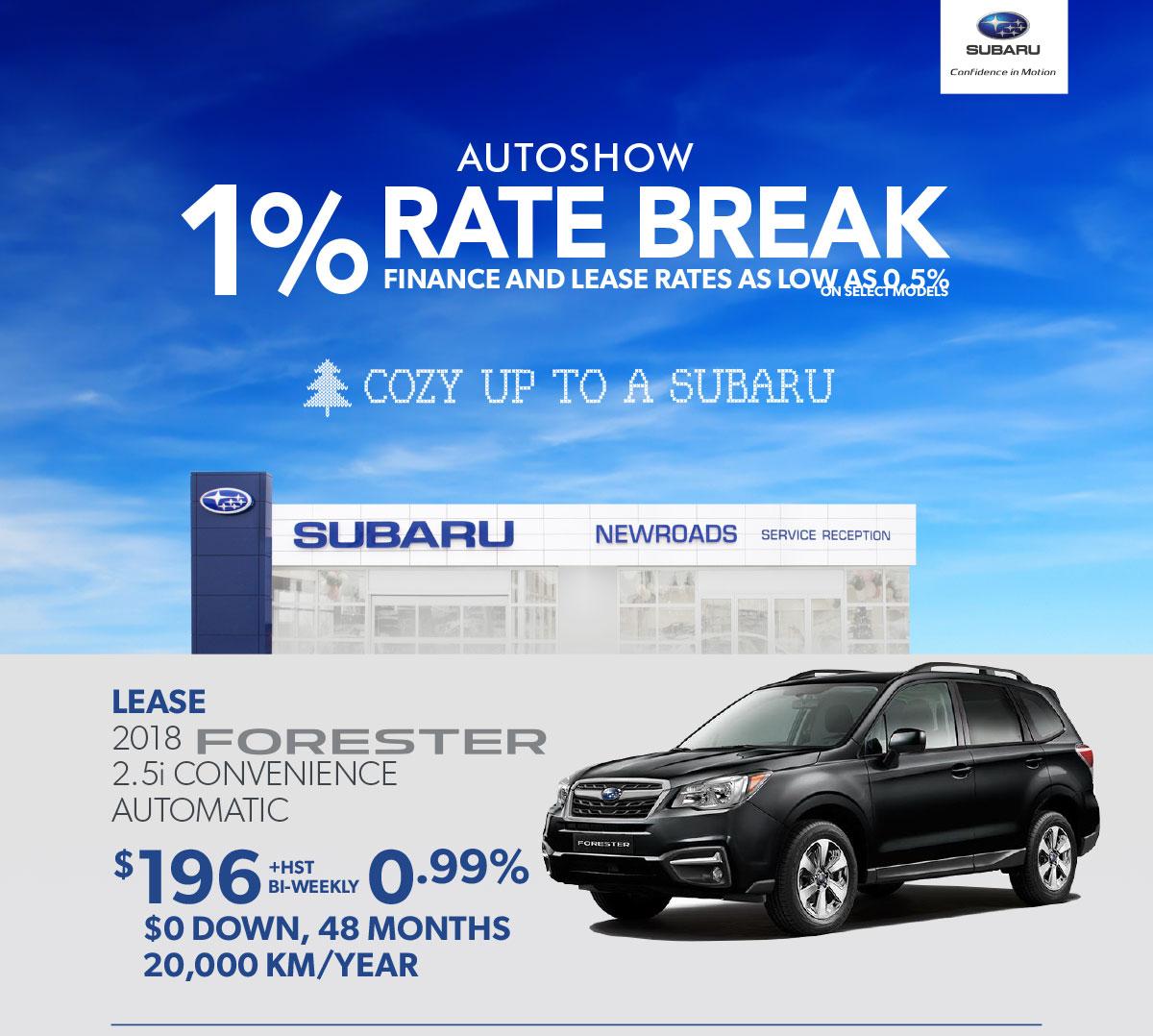 Toronto Auto Show Subaru specials