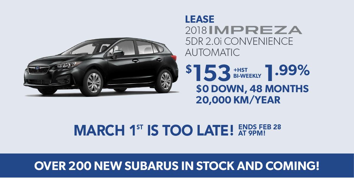 Canadian Auto Show Subaru specials