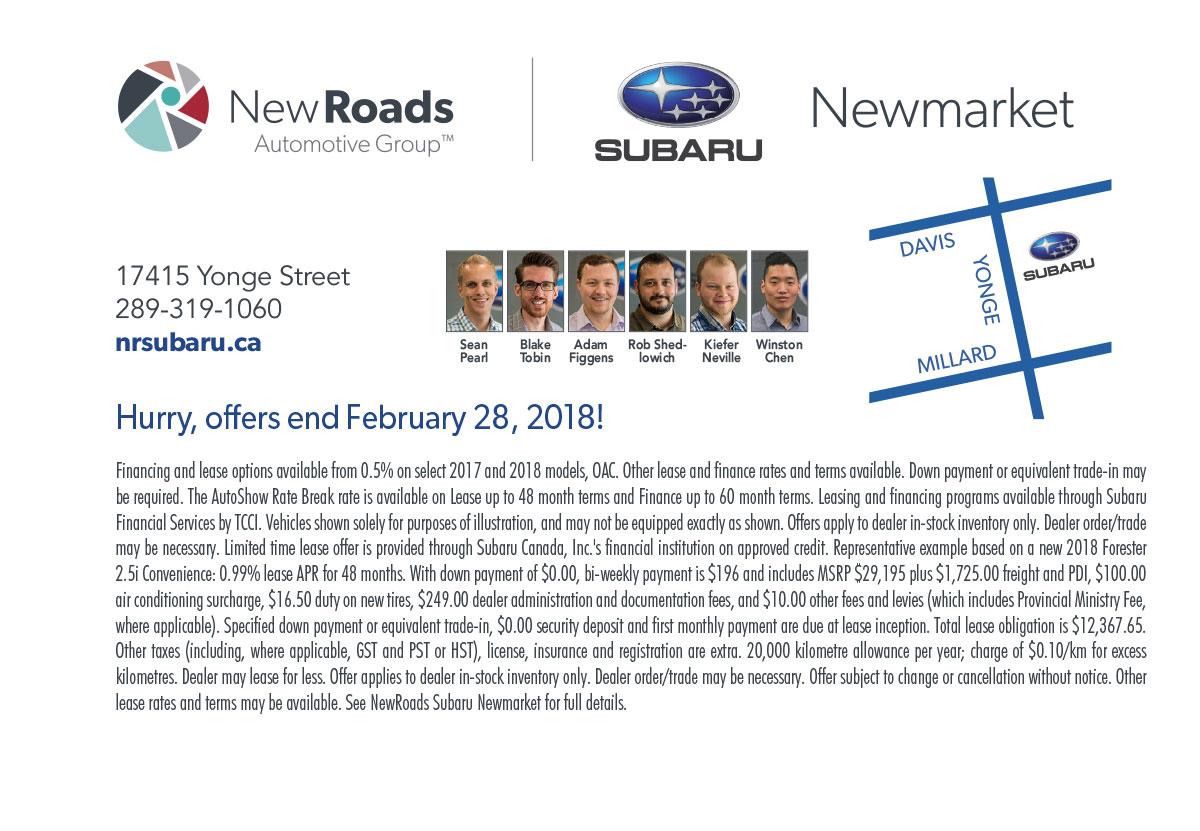 CIAS 2018 NewRoads Subaru